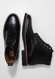 men j crew kenton cap toe lace up boots black pk66257