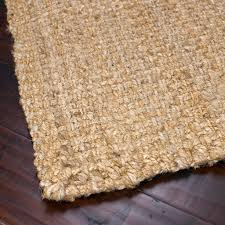 chunky weave natural jute rug detail