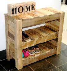 Recycled Pallet Shoe Rack