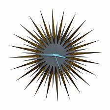 mid century starburst wall decor 61 wonderfully gallery midcentury modern starburst clock walnut grey rf of