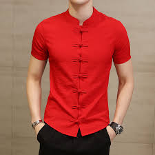 Chinese Collar Shirt For Men Slim Fit <b>Frog</b> Button Shirt Camicia ...