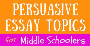 Persuasive Essay Topics Elementary