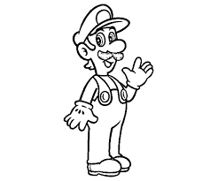 Small Picture Smiling Luigi Coloring Pages Smiling Luigi Coloring Pages Color