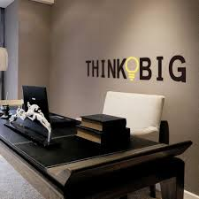 office wall art. ^ Think Big English Proverbs Home Decor PVC Wall Stickers Living Room Office Study Vinyl Technology Walll Paper-in From Art I