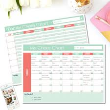 Family Calendar Chore Chart Free Printable Family Chore Chart Two Options Clean