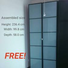 hinged fevik frosted glass door