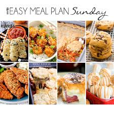 Weekly Menu For One Easy Meal Plan 17 Easy Peasy Meals