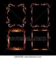 fire vector frames clipart k32791923