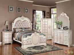 Distressed White Bedroom Set Rustic White Bedroom Furniture ...