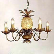 pineapple ceiling light uk antique brass glass 5 fitting chandelier palm leaf lights canada