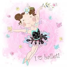 Premium Vector | Little cute girl ballerina dancing. <b>i love ballet</b> ...