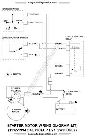 part 2 1992 1994 2 4l nissan d21 pickup starter motor wiring diagram 1992 1993 1994 2 4l nissan d21 pickup starter motor circuit wiring diagram
