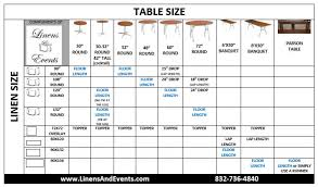 Table Linen Chart Size Paper Table Runners Rolls
