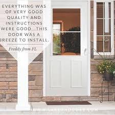 front door installation storm door