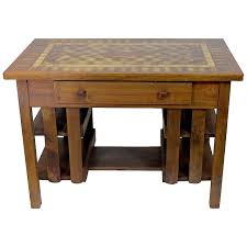 american arts crafts stickley mission desk writing library table marquetry top for