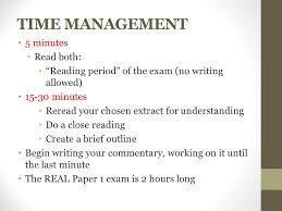 paper review comments time management minutes both  2 time management