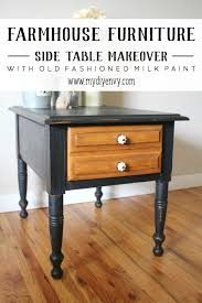 old furniture makeovers.  Makeovers Farmhouse Table Makeover With Black Old Fashioned Milk Paint For Old Furniture Makeovers E