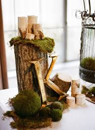 Decorating With Moss Balls tree stump and moss wedding decor ideas Deer Pearl Flowers 70