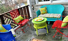 painted metal patio furniture. Fresh Refinishing Outdoor Furniture And Amazing Of Painting Patio Ideas Spray Metal Landscaping Gardening 14 Painted M