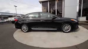 hyundai sonata limited 2015 black. 2015 hyundai sonata limited fh182019 phantom black skagit county mt vernon