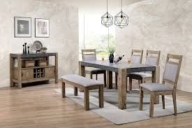 rustic living room furniture sets. Roundhill Furniture D725-6PC-S725 Costabella Dining Collection 7 PC Set, Table With Rustic Living Room Sets