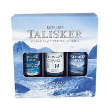 talisker single malt whisky miniature gift set 3 x 5cl
