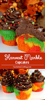 best ideas about fall bake thanksgiving harvest marble cupcakes