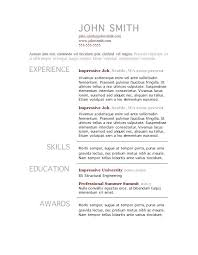 Simple Resume Template Word Magnificent Resume Templates Free Microsoft Free General Resume Template Free