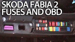 where are fuses and obd port in skoda fabia 2 engine and cabin where are fuses and obd port in skoda fabia 2 engine and cabin fuse box diagnostics