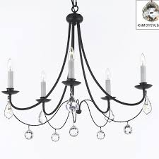 furniture glamorous black candle chandelier 14 clemence 5 light style with chain and wire black candle