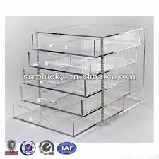 fashion design acrylic makeup organizer with drawers perspex cosmetic storage box