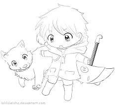 Chibi Anime Coloring Pages Zatushokinfo