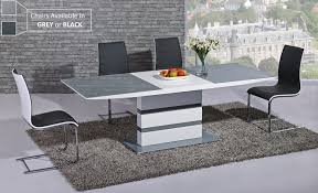 extending grey glass white high gloss dining table 8 chairs dining table and 8 chairs uk