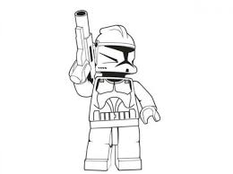 stormtrooper clipart coloring page 4