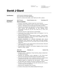 writing of resume