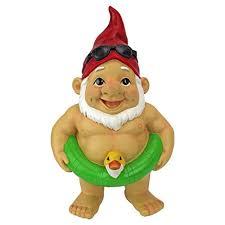 garden knomes. Perfect Knomes GardenGnomeStatuePoolPartyPeteNakedGnome To Garden Knomes O
