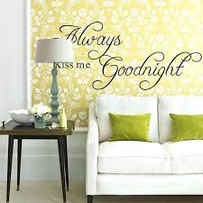 english wall decor always kiss me goodnight letter e wall stickers home bedroom removable english style english wall decor