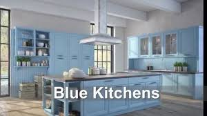 Of Blue Kitchens Blue Kitchens Cabinet Backsplash Paint Color Ideas Youtube