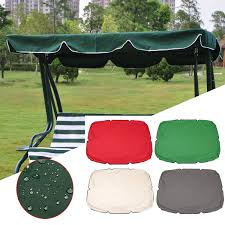 summer swing top cover canopy replacement furniture waterproof cover for garden courtyard outdoor swing chair hammock canopy swing chair awning cod