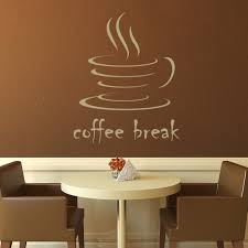 coffee break kitchen cafe wall decals wall art stickers on cafe wall art design with cafe wall art elitflat