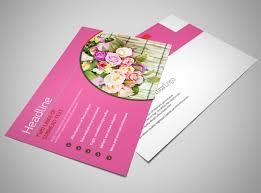 Florists & Flower Delivery Service Postcard Template | Mycreativeshop