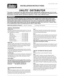 mallory ignition mallory unilite distributor user manual 13 mallory ignition mallory unilite distributor user manual 13 pages also for mallory unilite distributor 605