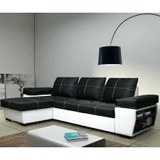 leather corner sofas black