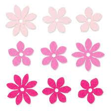 Blumen Filz Sortiert 9 Stück Rosa Mix 3432535
