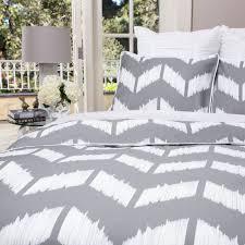 image of gray chevron bedding classic