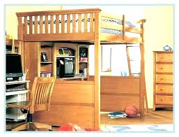 wood bunk bed with desk. Simple With Bunk Bed Desk Combo Over Queen With    In Wood Bunk Bed With Desk