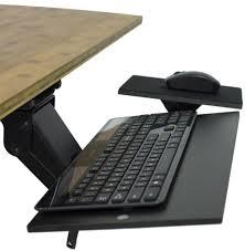 kt1 ergonomic under desk computer keyboard tray adjule height angle swivel