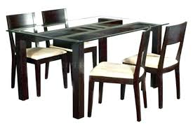 glass dining table with wood base room top oval round wooden din
