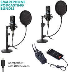 Movo - Podcasting Bundle Compatible with iPhone and iPad