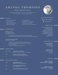 Hair And Makeup Artist Resume Templates By Canva Impressive Artist Resumes